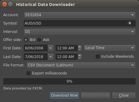 Historical Data Downloader File Formats — Latinum User 6 8 2